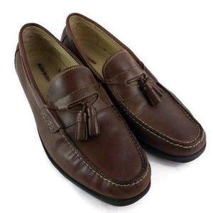 Nunn Bush Brown Leather Loafers